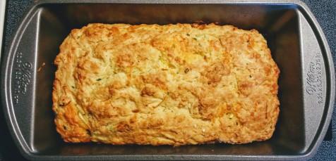 cheddar zucchini chive quick bread