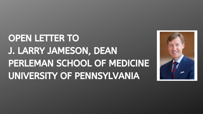 open letter to j  larry jameson  dean  perleman school of